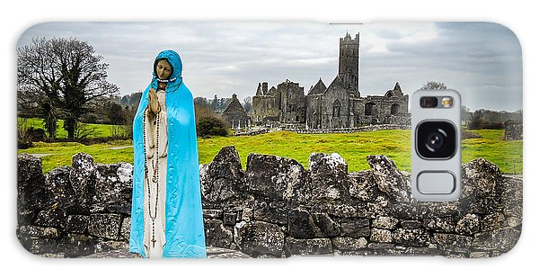 Official Greeter At Ireland's Quin Abbey National Monument Galaxy Case
