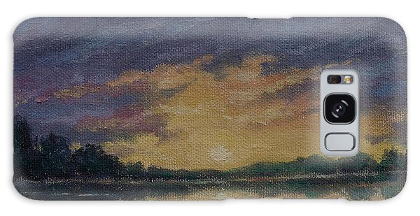 Offshore Sunset Sketch Galaxy Case by Kathleen McDermott