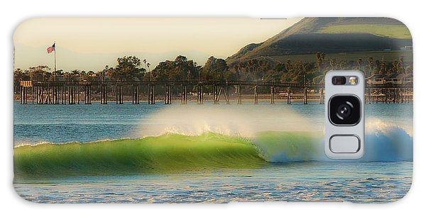 Offshore Wind Wave And Ventura, Ca Pier Galaxy Case