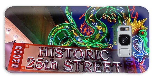 Ogden's Historic 25th Street Neon Dragon Sign Galaxy Case by Gary Whitton