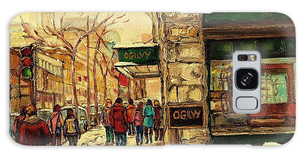 Ogilvys Department Store Downtown Montreal Galaxy Case by Carole Spandau