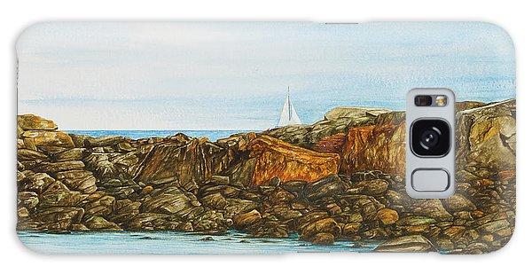 Ogunquit Maine Sail And Rocks Galaxy Case