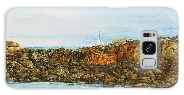 Ogunquit Maine Sail And Rocks Galaxy Case