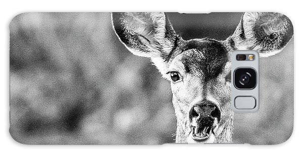 Oh, Deer, Black And White Galaxy Case