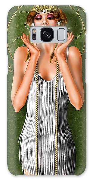 Feather Stars Galaxy Case - Oh Those Fabulous Flappers by Troy Brown