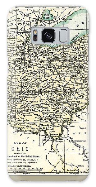 Ohio Antique Map 1891 Galaxy Case
