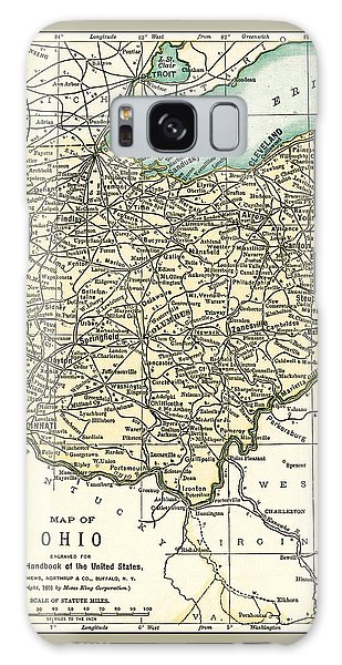 Ohio Antique Map 1891 Galaxy Case