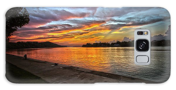 Ohio River Sunset Galaxy Case