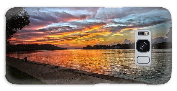 Ohio River Sunset Galaxy Case