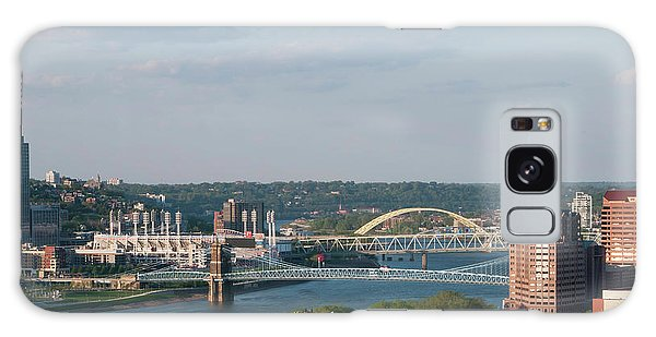 Ohio River's Suspension Bridge Galaxy Case