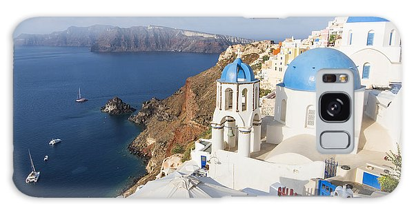 Oia Views, Santorini Greece Galaxy Case
