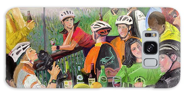 Oil- Luncheon Of The Cycling Party Galaxy Case
