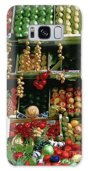 Oil Painted Faux Paris Fruit Display Galaxy Case