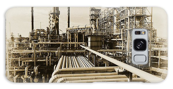 Oil Refinery In Old Vintage Processing Concept Galaxy Case