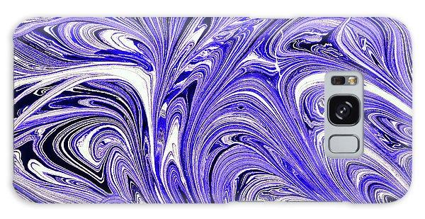 Oil Swirl Blue Droplets Abstract II Galaxy Case