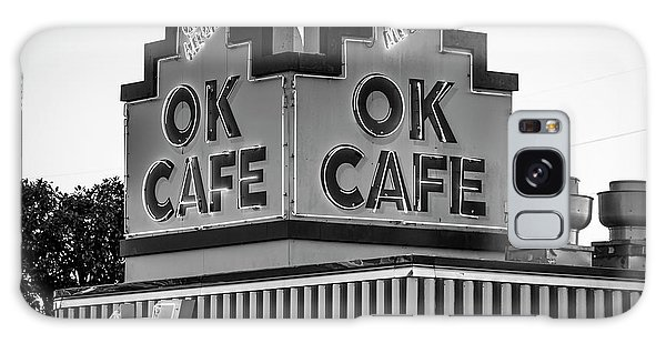 Ok Cafe Neon 2 B W Atlanta Classic Landmark Restaurant Art Galaxy Case