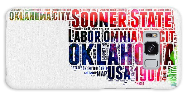 America Map Galaxy Case - Oklahoma Watercolor Word Cloud  by Naxart Studio