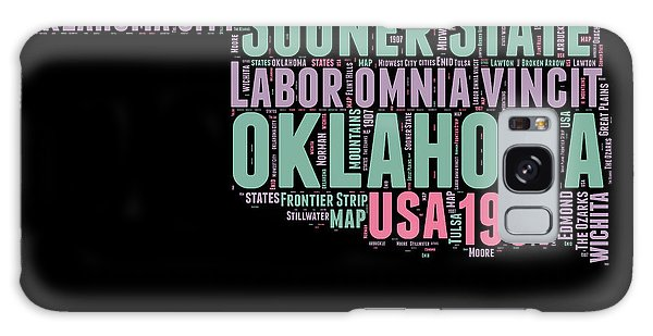 America Map Galaxy Case - Oklahoma Word Cloud 1 by Naxart Studio