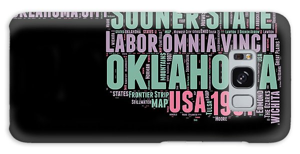Usa Galaxy Case - Oklahoma Word Cloud 1 by Naxart Studio