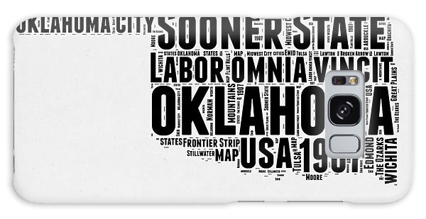 America Map Galaxy Case - Oklahoma Word Cloud 2 by Naxart Studio