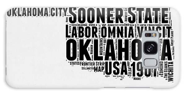 Usa Galaxy Case - Oklahoma Word Cloud 2 by Naxart Studio