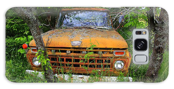 Old Abandoned Ford Truck In The Forest Galaxy Case