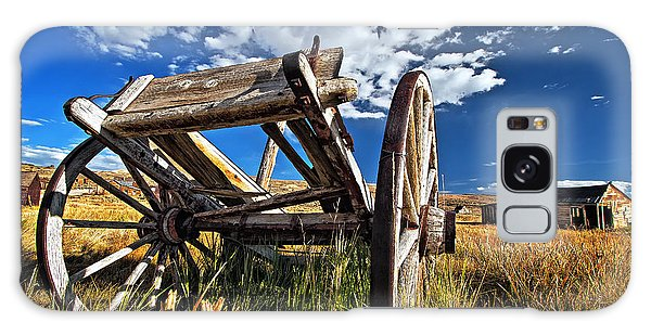 Old Abandoned Wagon, Bodie Ghost Town, California Galaxy Case
