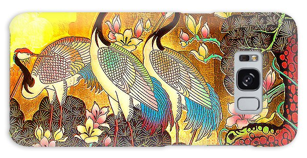 Old Ancient Chinese Screen Painting - Cranes Galaxy Case