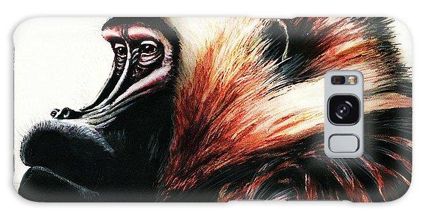 Old Baboon Animal Art Drawing Galaxy Case