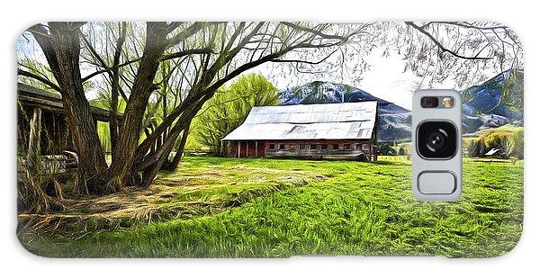 Old Barn In Eden Utah Galaxy Case by James Steele