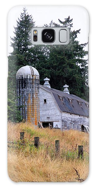 Old Barn In Field Galaxy Case by Athena Mckinzie