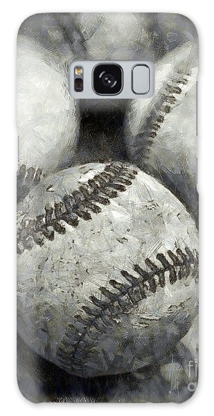 Old Baseballs Pencil Galaxy Case