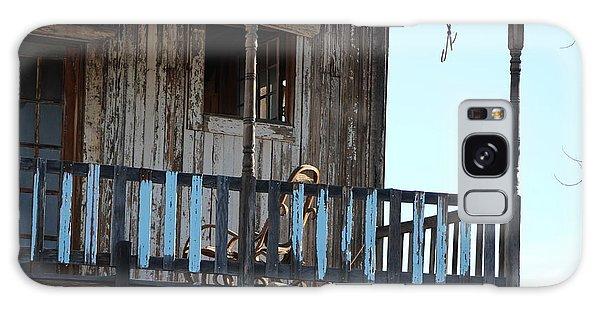 Old Blue Balcony Galaxy Case