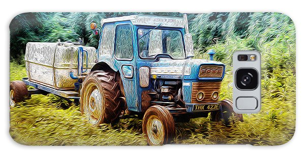 Old Blue Ford Tractor Galaxy Case