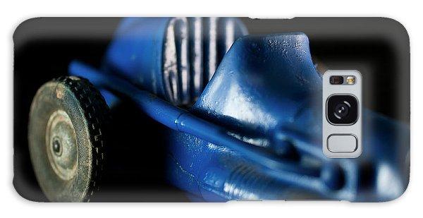 Old Blue Toy Race Car Galaxy Case by Wilma Birdwell