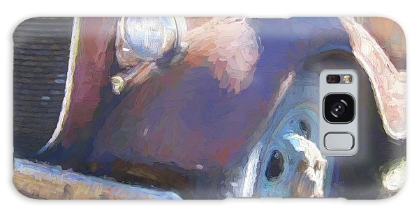 Old Blue Wheel Galaxy Case