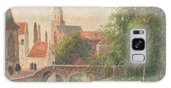 Town Galaxy Case - Old Bridge In Bruges  by Camille Pissarro