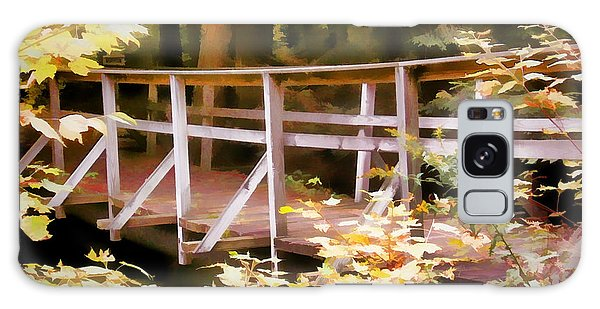 Old Bridge In The Woods In Color Galaxy Case