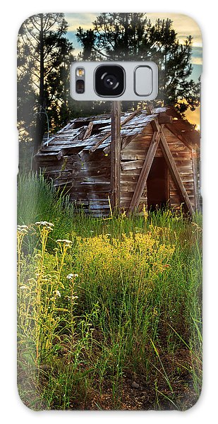 Old Cabin At Sunset Galaxy Case by James Eddy