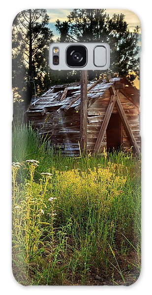 Old Cabin At Sunset Galaxy Case