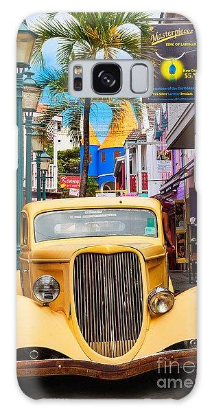 Old Car On Old Street Galaxy Case