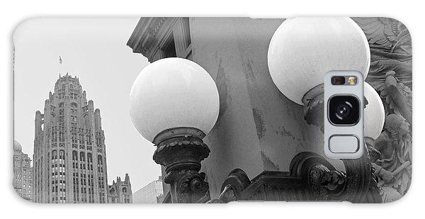 Old Chciago Street Lamps Bw Galaxy Case