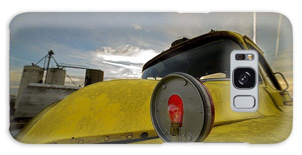 Old Chevy Truck With Grain Elevators In The Background Galaxy Case