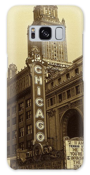Old Chicago Theater - Vintage Photo Art Print Galaxy Case