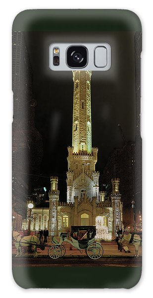 Old Chicago Water Tower Galaxy Case by Alan Toepfer