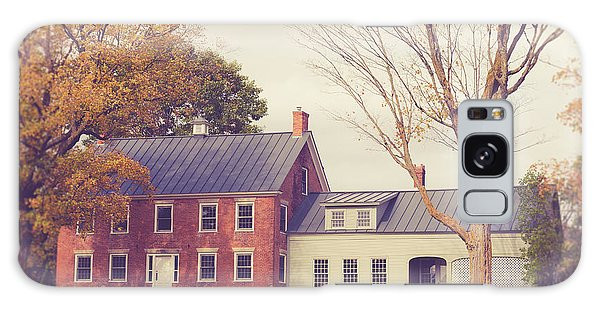 Brick House Galaxy Case - Old Colonial Farm House Vermont by Edward Fielding