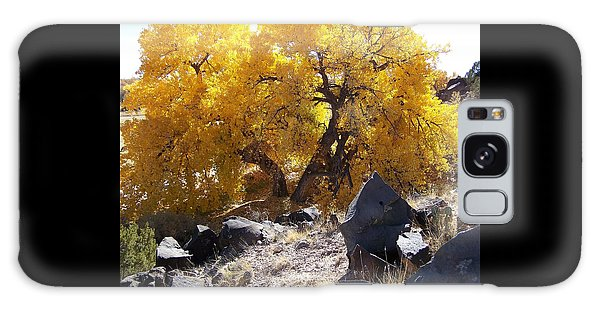 Old Cottonwood Below Black Rocks Galaxy Case