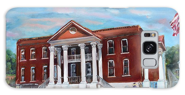 Galaxy Case featuring the painting Old Courthouse In Ellijay Ga - Gilmer County Courthouse by Jan Dappen