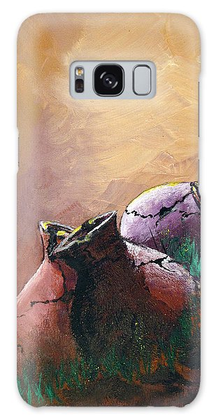 Old Cracked Pots-sold Galaxy Case by Gary Smith