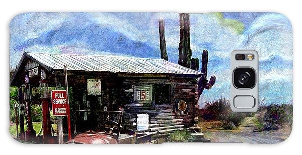 Old Desert Gas Station Galaxy Case
